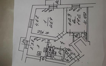 2-комн квартира, 70.4 м2, 6 этаж