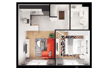 1-комнатная квартира, 39.4 м2, 11 этаж