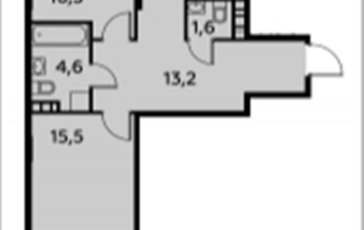 2-комнатная квартира, 72.4 м2, 8 этаж