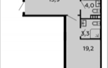 2-комнатная квартира, 73 м2, 4 этаж
