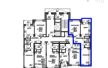 2-комнатная квартира, 59.8 м2, 2 этаж