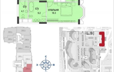 2-комн квартира, 83.6 м2, 25 этаж
