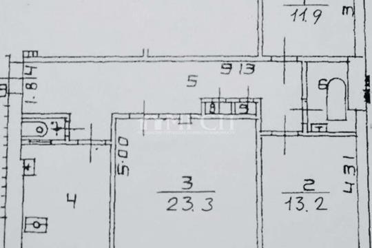 3-комн квартира, 84.2 м2, 6 этаж