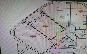 3-комн квартира, 81.4 м2, 23 этаж