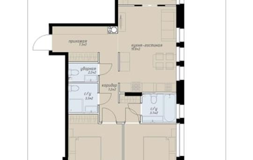4-комн квартира, 80.8 м2, 14 этаж