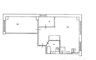 3-комн квартира, 56 м2, 3 этаж