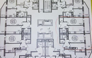 1-комн квартира, 41 м2, 14 этаж