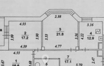 3-комн квартира, 94 м2, 10 этаж