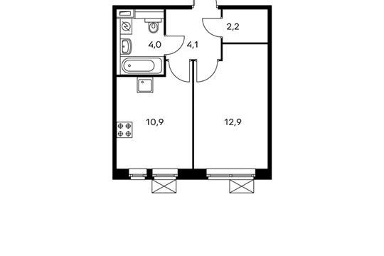 1-комн квартира, 34.1 м<sup>2</sup>, 4 этаж_1
