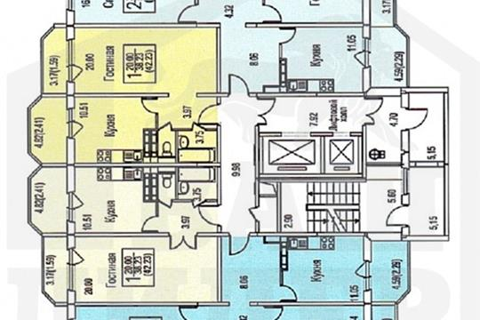 2-комн квартира, 61.76 м2, 3 этаж