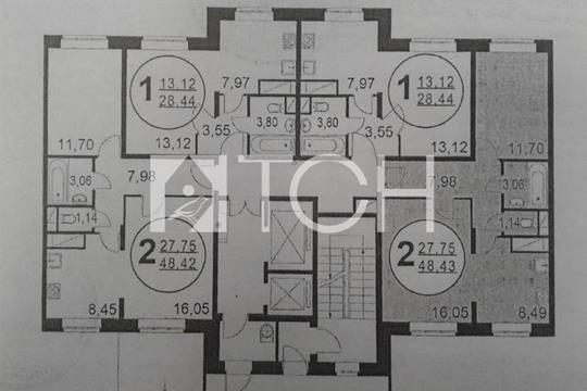 2-комн квартира, 48.6 м2, 2 этаж
