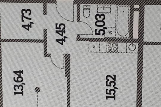 1-комн квартира, 43.37 м2, 2 этаж