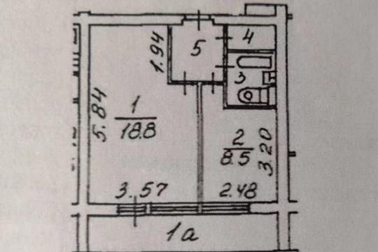 1-комн квартира, 34.8 м2, 5 этаж