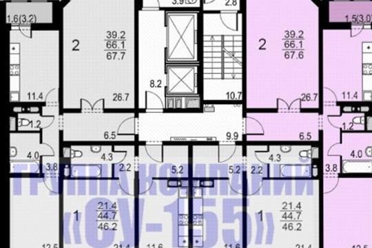 2-комн квартира, 67 м<sup>2</sup>, 10 этаж_1
