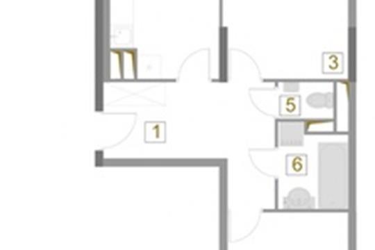 2-комн квартира, 65.8 м2, 11 этаж
