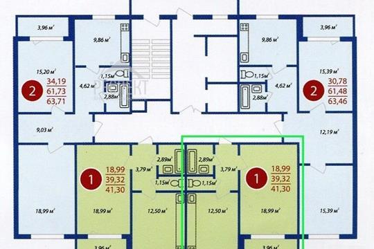 1-комн квартира, 41 м2, 7 этаж
