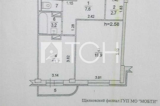 1-комн квартира, 47.2 м2, 13 этаж