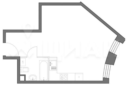 1-комн квартира, 36.32 м2, 19 этаж