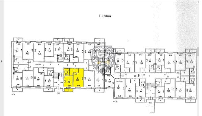 1-комн квартира, 35 м<sup>2</sup>, 1 этаж_1