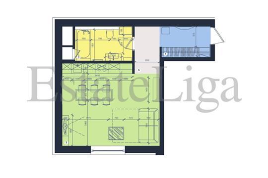 1-комн квартира, 36 м2, 8 этаж
