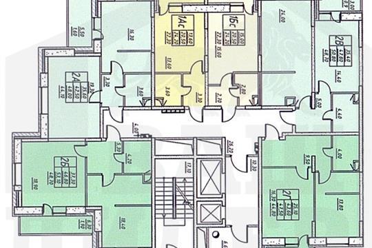Студия, 21.9 м2, 3 этаж