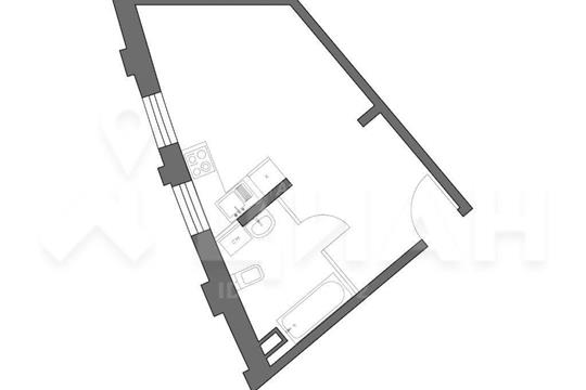 1-комн квартира, 29 м2, 33 этаж