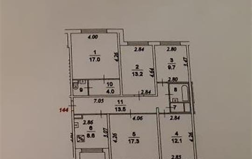 5-комн квартира, 100 м2, 1 этаж