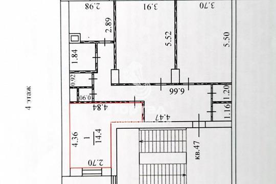 Комната в квартире, 90 м2, 4 этаж
