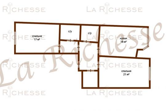 2-комн квартира, 75.9 м2, 8 этаж