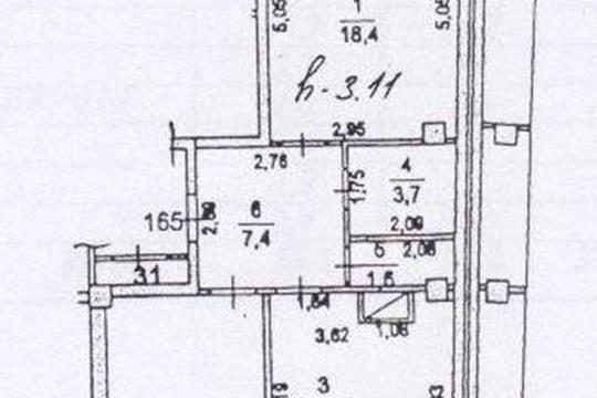 2-комн квартира, 68.5 м2, 3 этаж