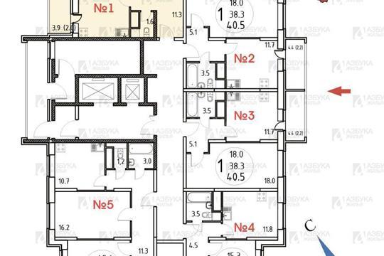 2-комн квартира, 65.1 м2, 5 этаж