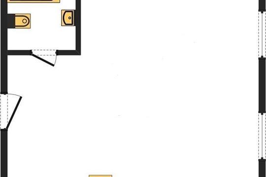 1-комн квартира, 31 м2, 7 этаж