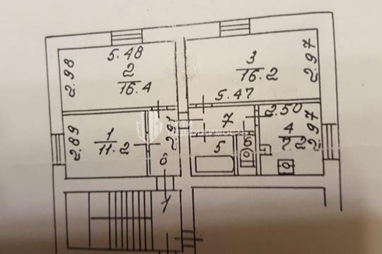 3-комн квартира, 63 м<sup>2</sup>, 1 этаж_1