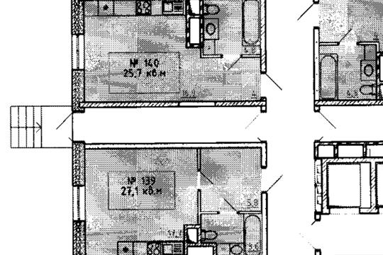 Студия, 25.7 м2, 1 этаж