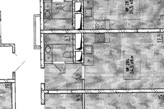 Студия, 24.5 м2, 3 этаж