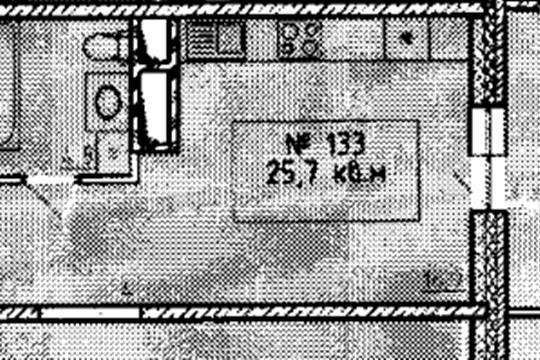 Студия, 25.7 м2, 9 этаж