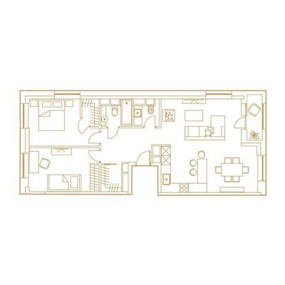 3-комн квартира, 84.8 м2, 15 этаж - фото 1