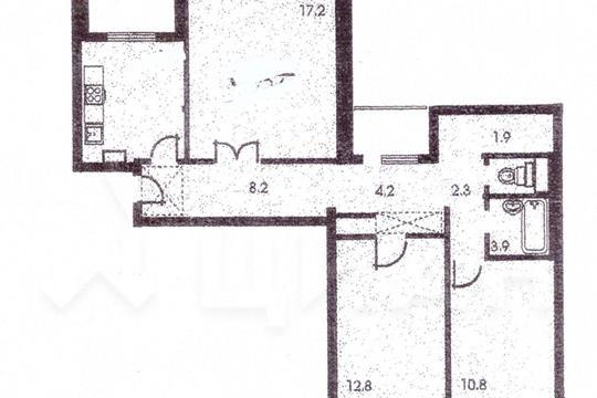 3-комн квартира, 76.8 м<sup>2</sup>, 6 этаж_1