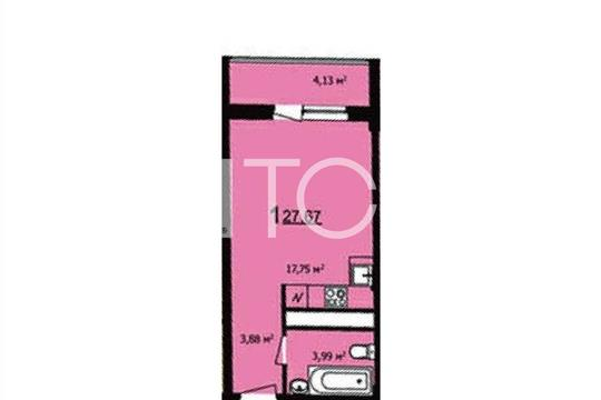 1-комн квартира, 28 м2, 8 этаж