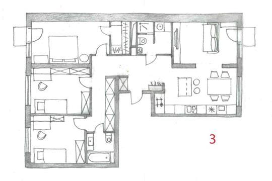 4-комн квартира, 110 м2, 8 этаж