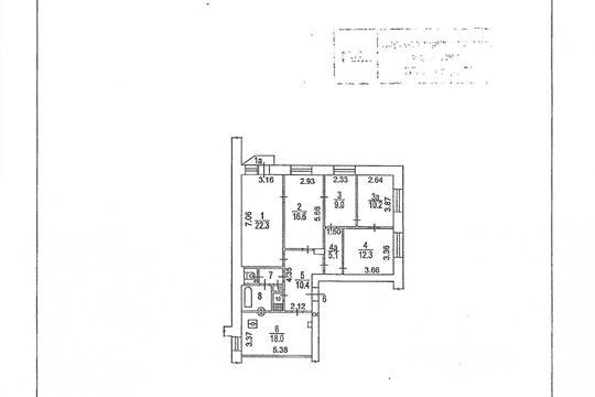 4-комн квартира, 112 м2, 4 этаж
