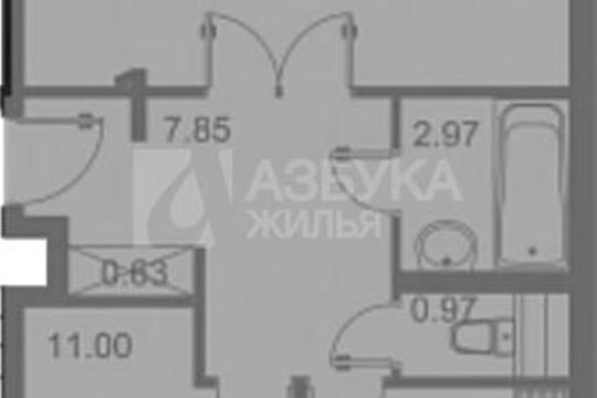 2-комн квартира, 56.6 м2, 1 этаж