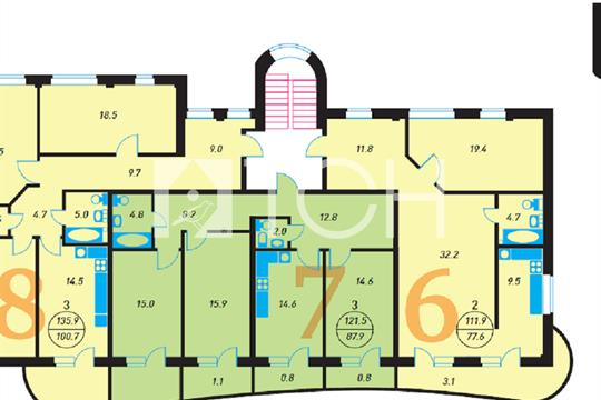 3-комн квартира, 111.9 м2, 3 этаж