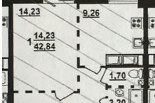1-комн квартира, 43 м2, 13 этаж