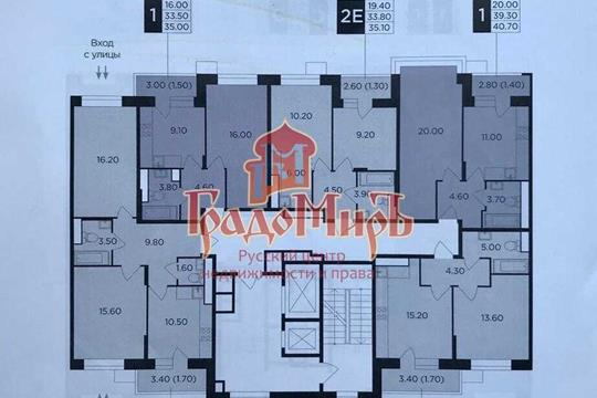 1-комн квартира, 39.8 м2, 8 этаж