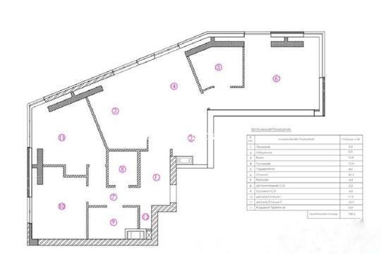 3-комн квартира, 100.4 м2, 19 этаж