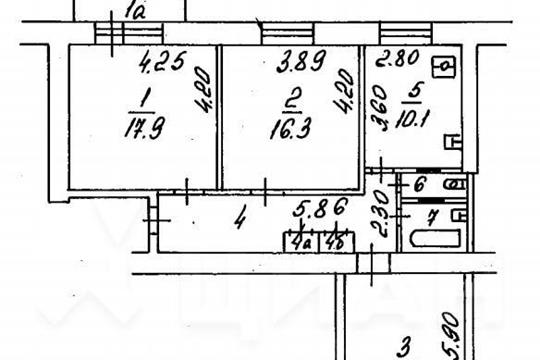 3-комн квартира, 82.3 м2, 4 этаж