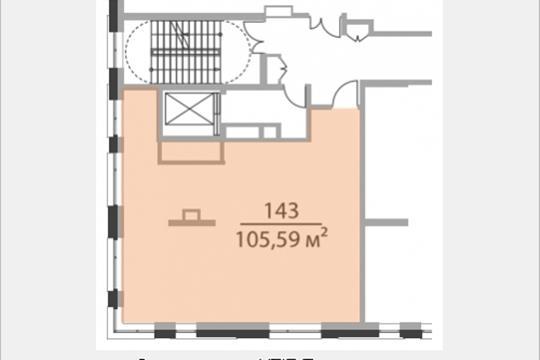 Офис, 105.59 м2, класс A