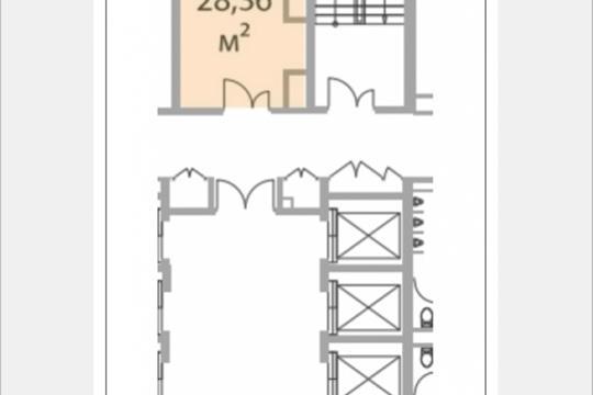 Офис, 28.36 м2, класс A