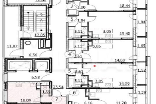 3-комн квартира, 72.86 м2, 11 этаж